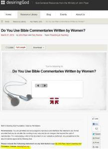 http://www.desiringgod.org/resource-library/ask-pastor-john/do-you-use-bible-commentaries-written-by-women