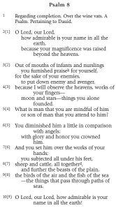 Pietersma.NETS.Psalm.8