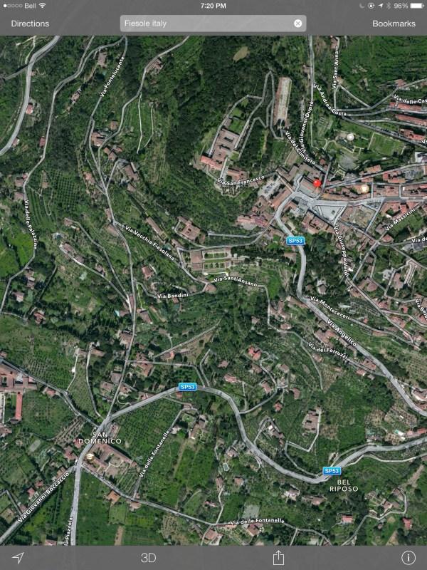Fiesole map